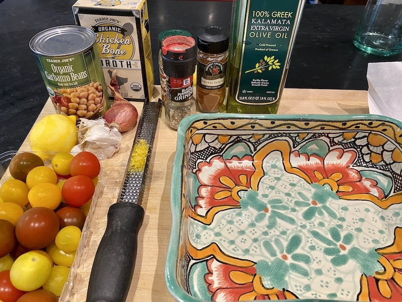 ingredients for Halibut In a Pan