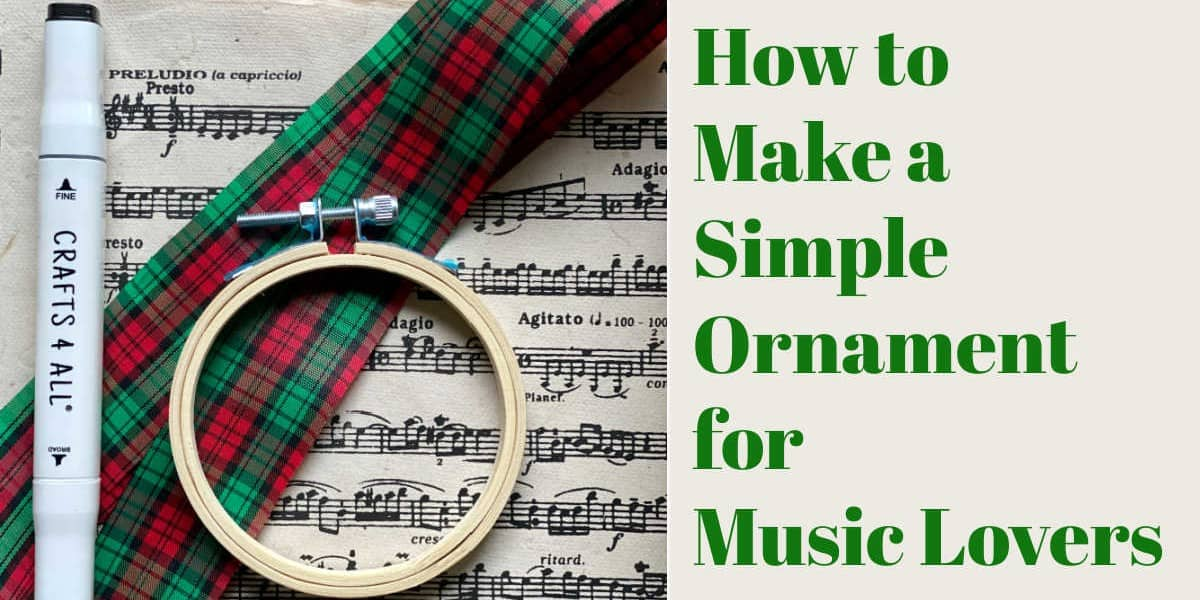 diy ornament for music lovers