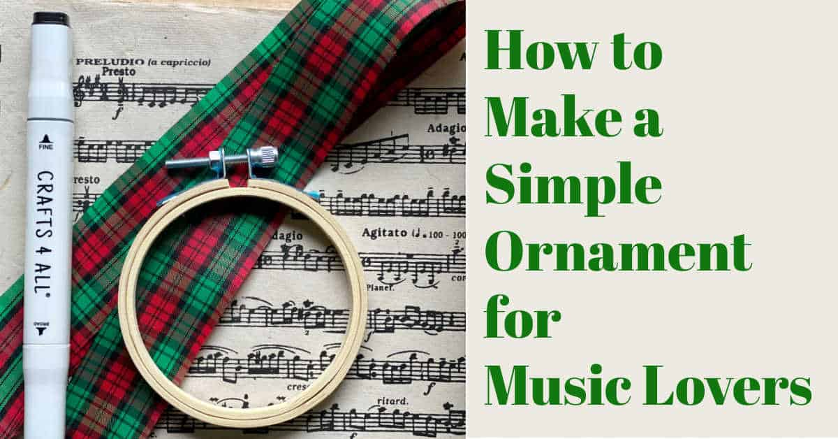 Easy Christmas Ornament for Music Lovers