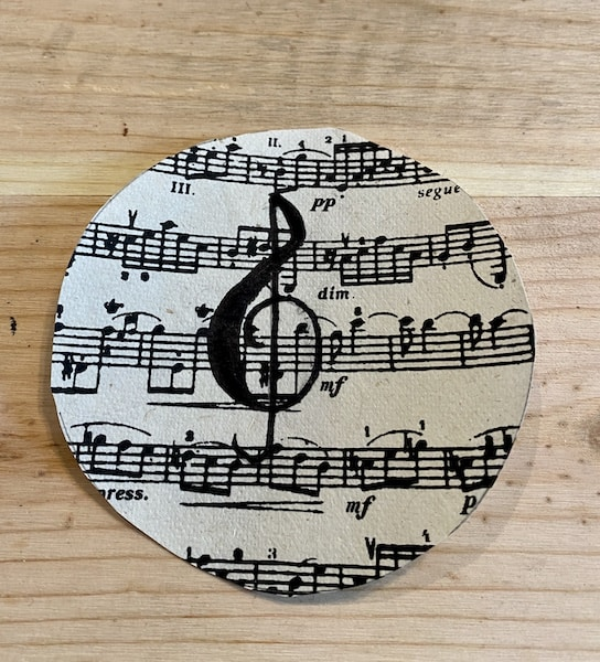 diy sheet music ornament