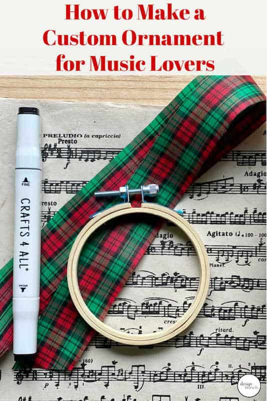 diy Christmas ornament for music lovers