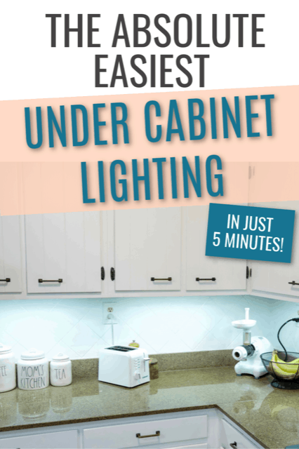 installing wireless under cabinet lighting.