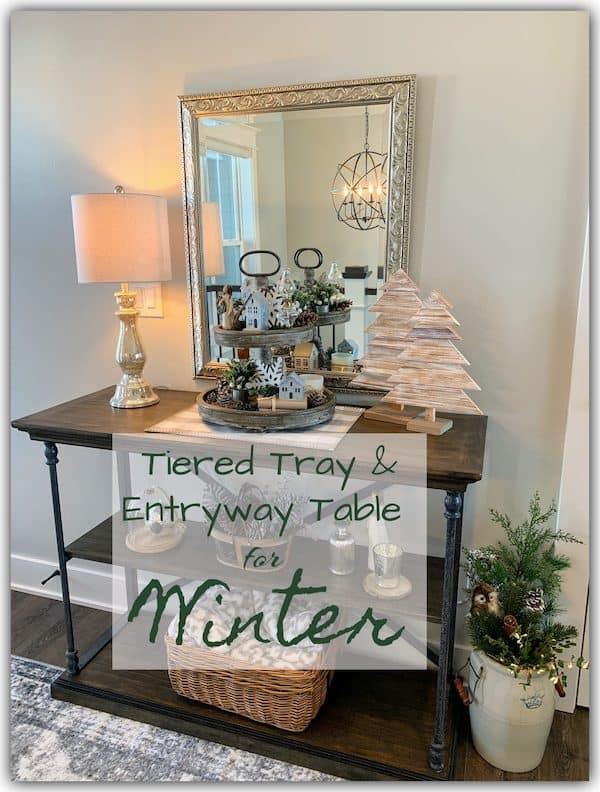 tiered tray and entry table