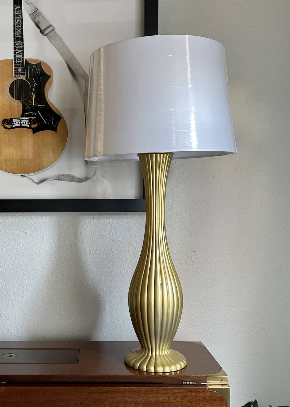 lamp after spray paint