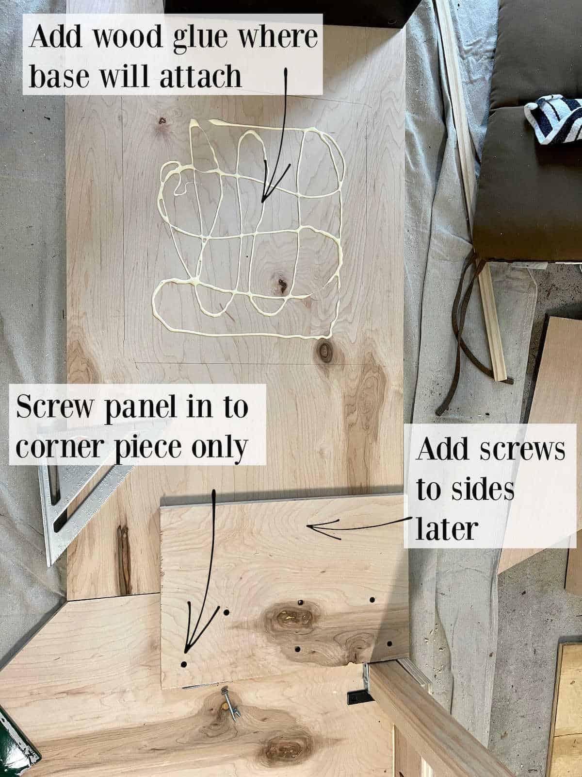 diy corner desk assembly