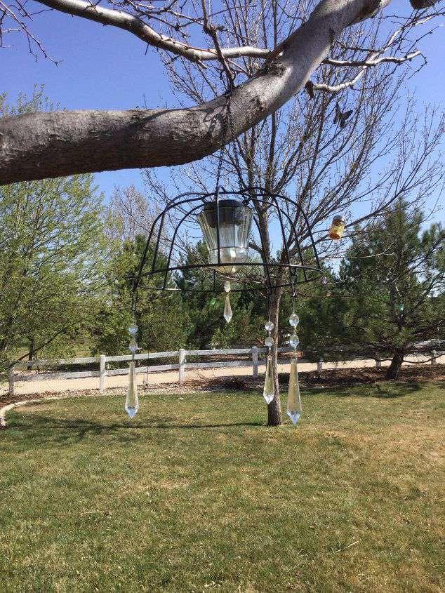 Chas' Crazy Creations Flower Basket solar chandelier