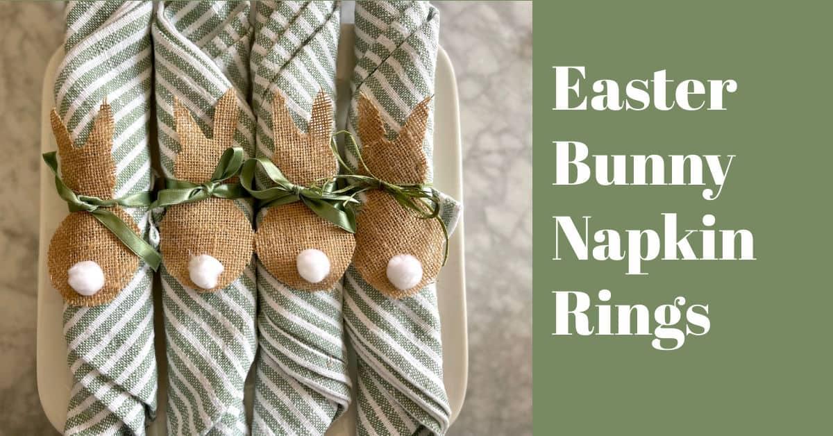 Burlap Bunny Napkin Rings