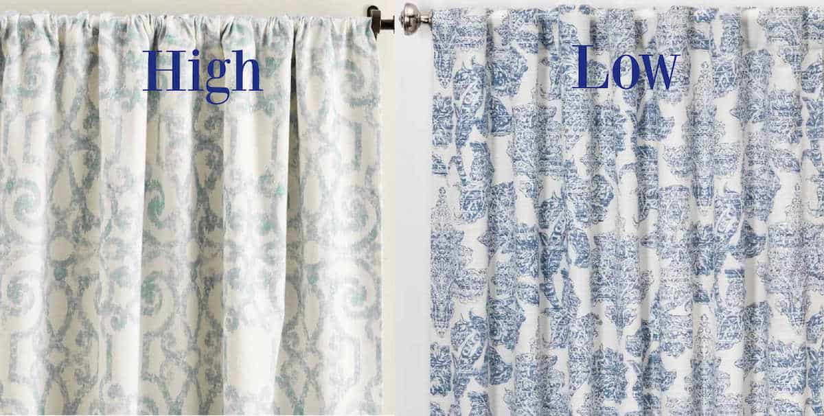 rustic french drapes