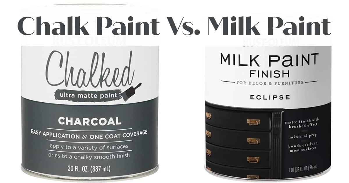Chalk Paint Vs. Milk Paint