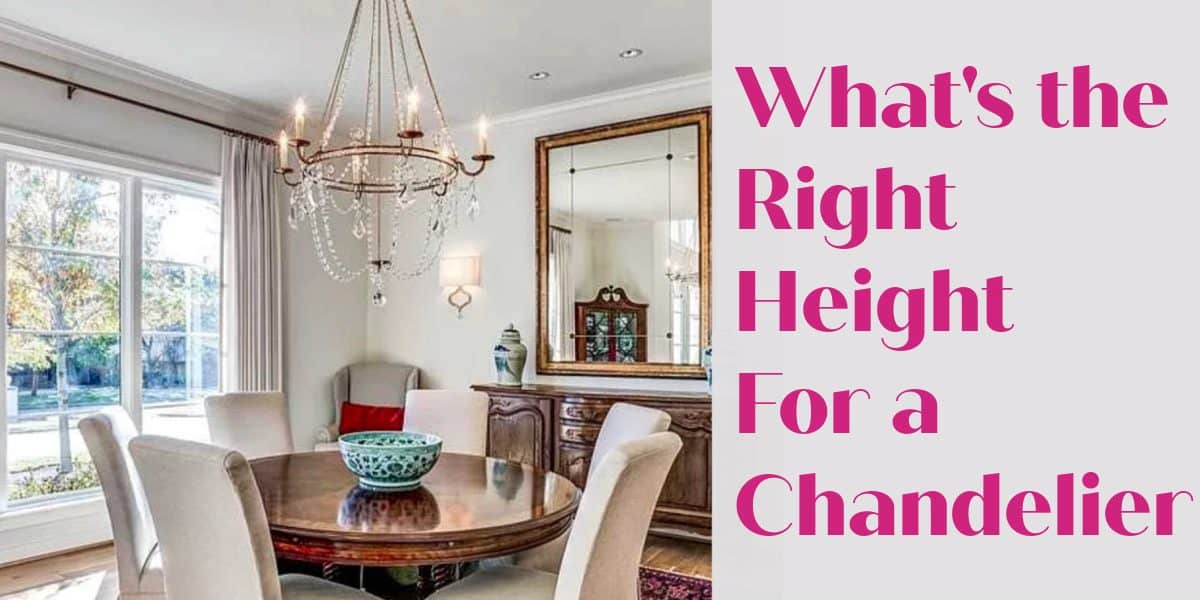 chandelier height over a table