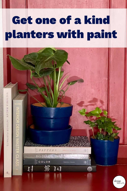 Painting terra cotta pots