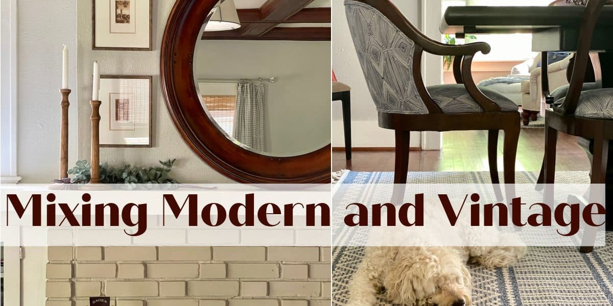 mixing vintage and modern