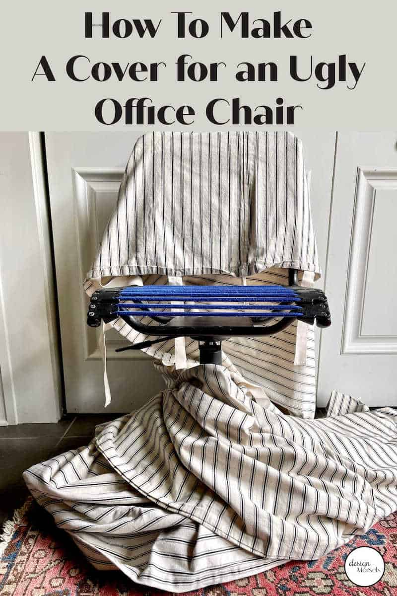 how to cover an ugly office chair