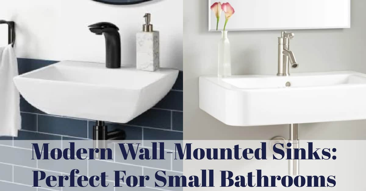 Modern Wall-Mounted Sinks:  Perfect For Small Bathrooms