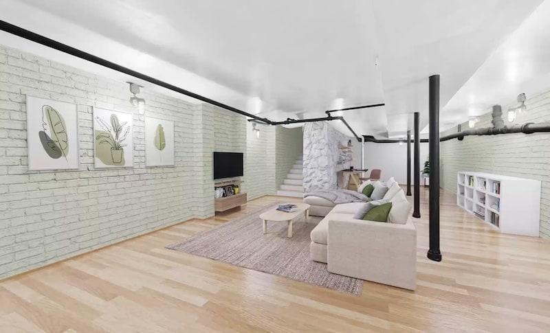 light walled basement