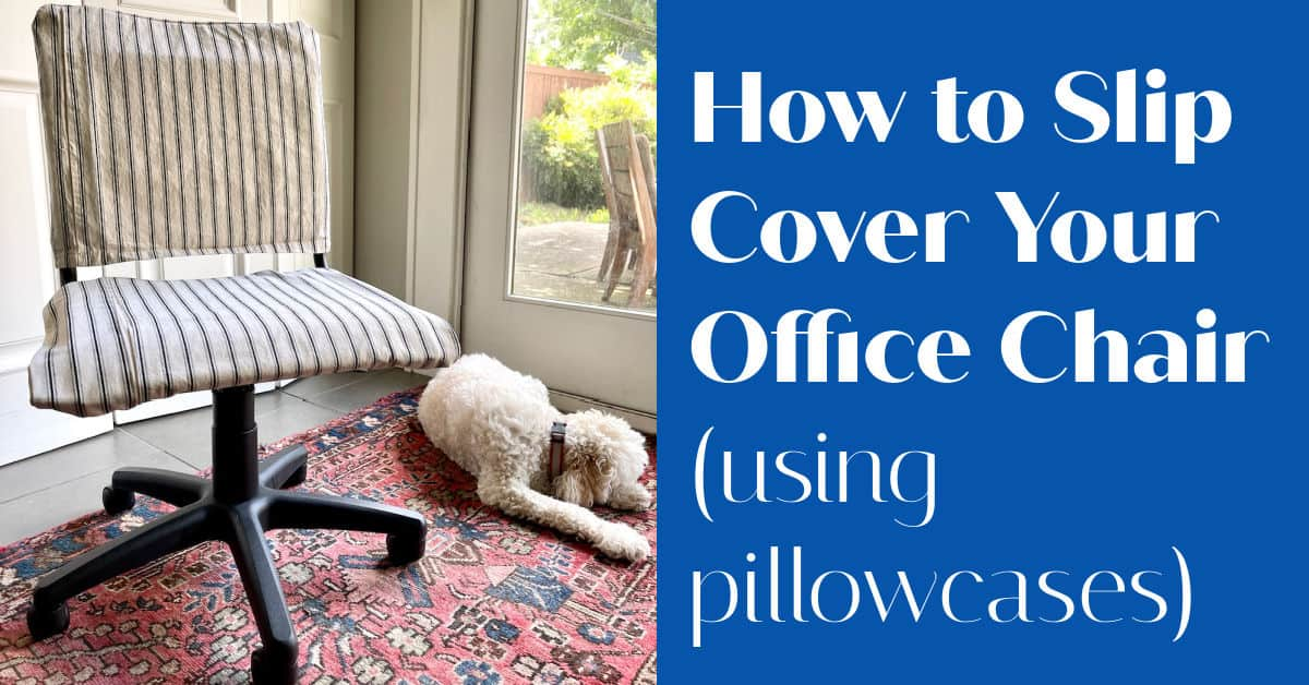 How To Make A Cover for an Ugly Office Chair