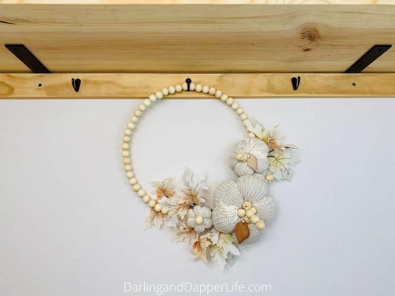 wooden beaded wreath