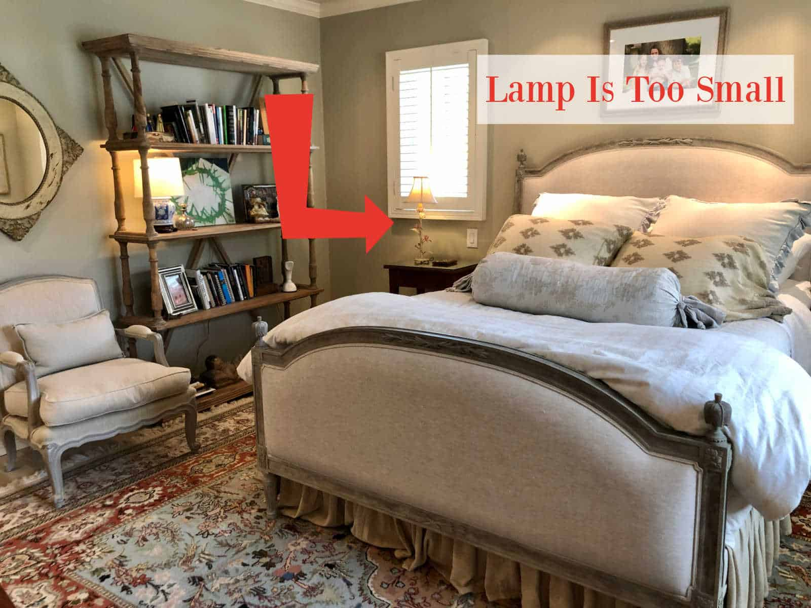 bedside lamp size