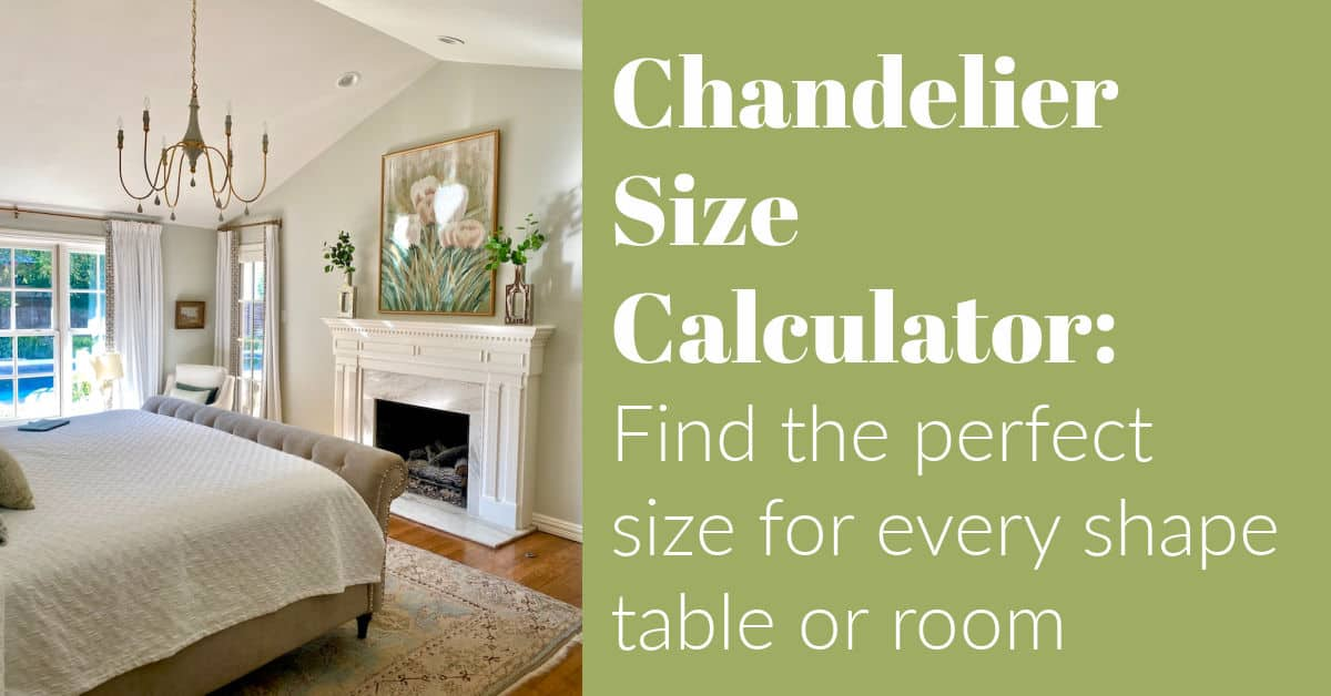 Chandelier Size Calculator:  Find the perfect size for every shape table and room (with illustrations)