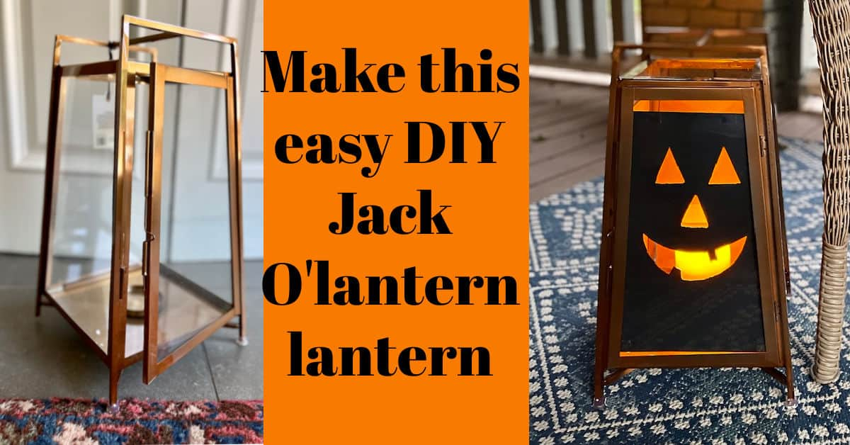 What is a DIY Jack O'lantern lantern? Try this easy porch decoration